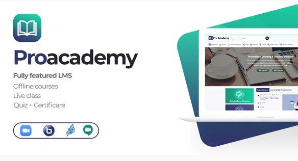 Proacademy - LMS & Live Classes Marketplace v2.7