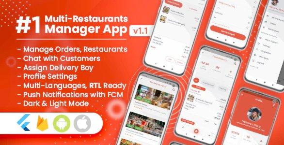 Manager / Owner for Multi-Restaurants Flutter App v1.1.0
