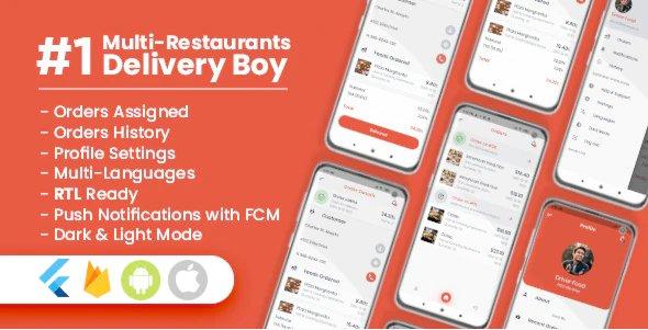 Delivery Boy For Multi-Restaurants Flutter App v1.2.0