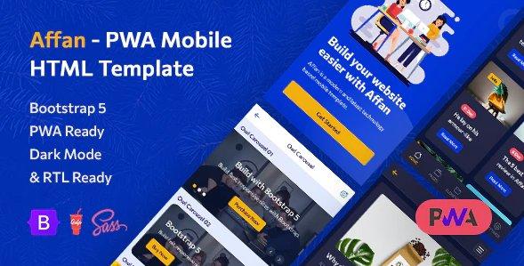 PWA Mobile HTML Template