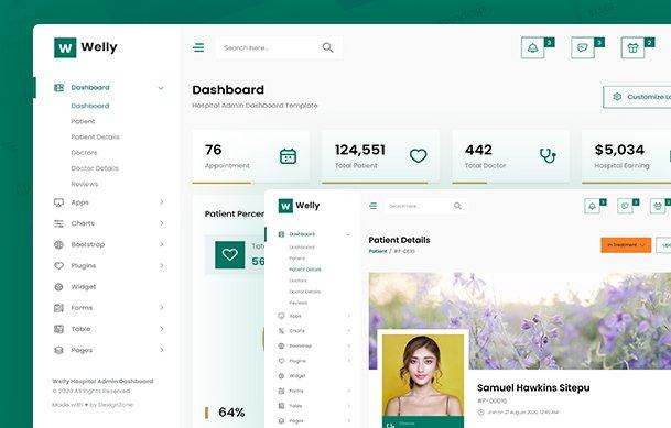 Hospital Admin Dashboard Bootstrap HTML Template