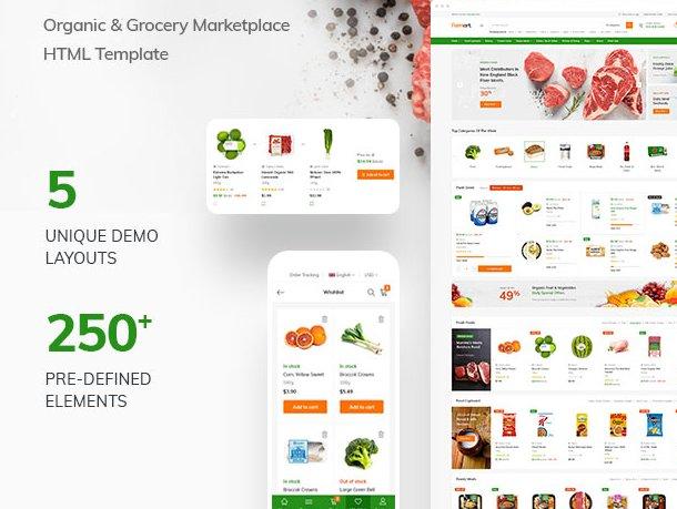 Organic Marketplace eCommerce HTML Template