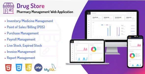 Drug Store - Pharmacy & Billing Management Web Application v1.0