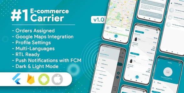 Carrier For E-Commerce Flutter App v1.0