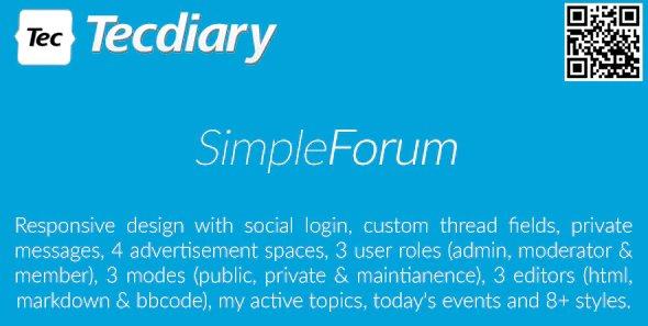 Simple Forum - Responsive Bulletin Board v1.4.0