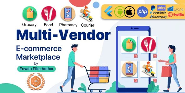 GoMarket | Food, Grocery, Pharmacy & Courier Delivery App | Multi-Vendor Marketplace v1.0