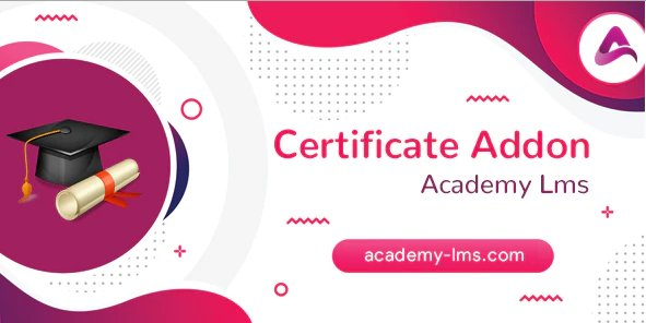Academy LMS Certificate Addon v1.0