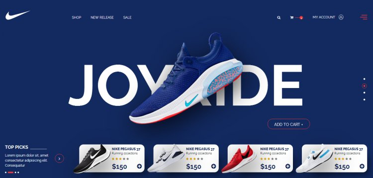 E-commerce Product Landing Page Design CSS HTML