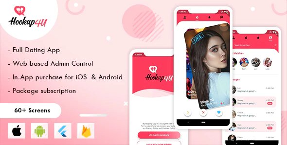 Hookup4u – A Complete Flutter Based Dating App with Admin