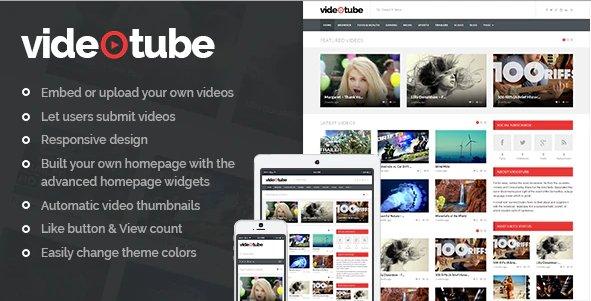 VideoTube v3.4.3.6 - A Responsive Video WordPress Theme