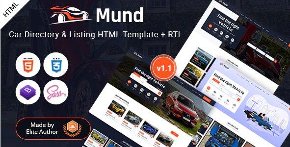 Mund - Car Directory & Listing HTML Template