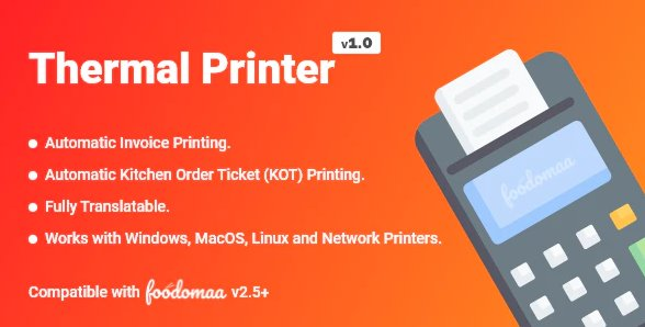Thermal Printer Module for Foodomaa v1.0 Nulled