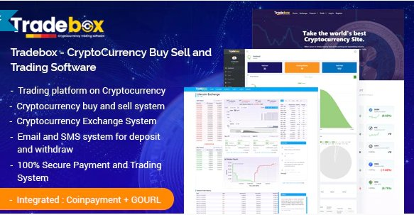 Tradebox v6.0 - CryptoCurrency Buy Sell and Trading Software Nulled