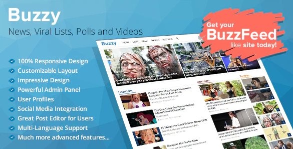 Buzzy - News, Viral Lists, Polls and Videos v4.5.0 Nulled