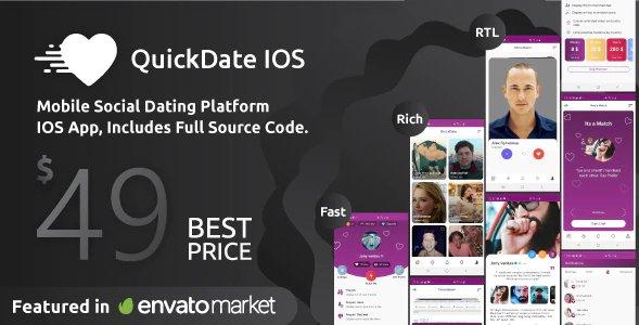 QuickDate IOS- Mobile Social Dating Platform Application v1.7 Nulled