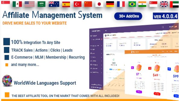 Affiliate Management System v4.0.0.4 Nulled