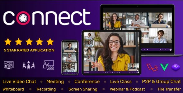 Connect - Live Video & Chat Messaging, Live Class, Meeting, Webinar, File Sharing, Whiteboard v1.9.0 Nulled