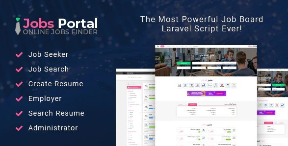 Jobs Portal - Job Board Laravel Script v3.3