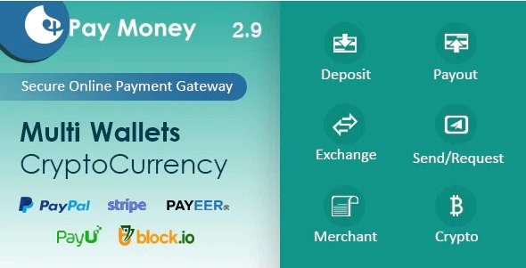 PayMoney - Secure Online Payment Gateway v2.9(+app) Nulled