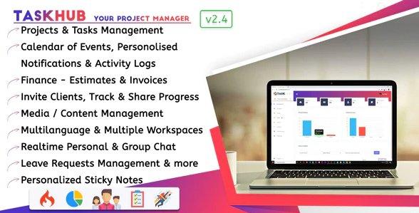 Taskhub - Project Management, Finance, CRM Tool v2.4