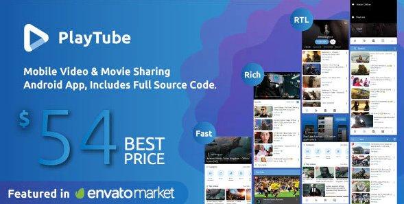 PlayTube - Mobile Video & Movie Sharing Android Native Application (Import / Upload) v2.3