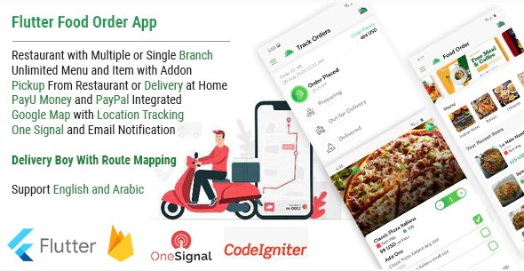 Single Restaurant Food Order Flutter full product Android & IOS + Delivery boy Native Android app v1.0