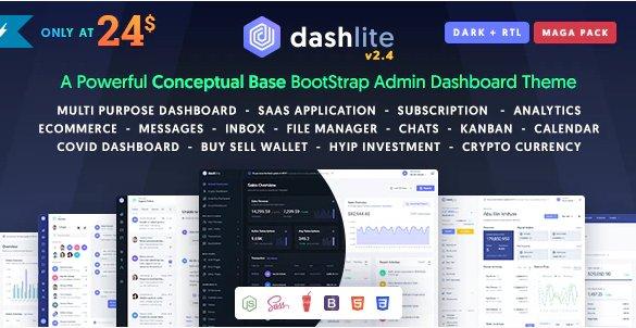 DashLite - Bootstrap Responsive Admin Dashboard Template v2.4.0
