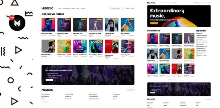 Musico - Premium Music Download Site HTML Template Nulled