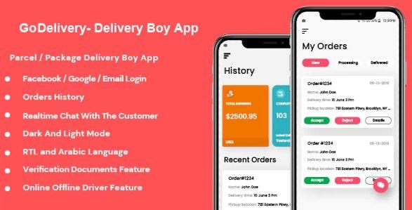 GoDelivery - Delivery Software for Managing Your Local Deliveries - DeliveryBoy App v1.0.1