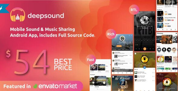 DeepSound Android- Mobile Sound & Music Sharing Platform Mobile Android Application v1.8