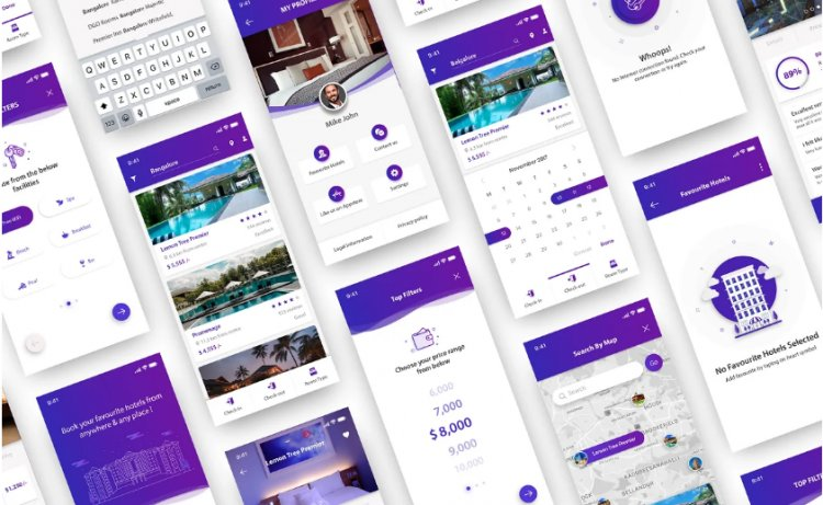 Complete PSD Kit - Hotel Booking App