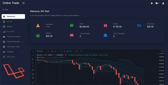 OnlineTrader - Trading and investment management system Nulled