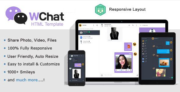 Chat HTML Template