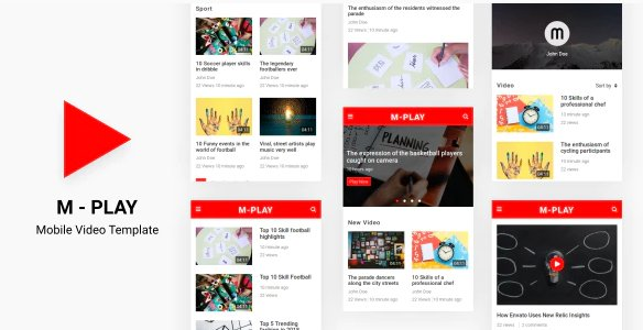 M-PLAY - Mobile Video Template nulled