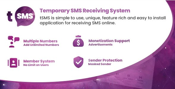 tSMS - Temporary SMS Receiving System v1.9 Nulled