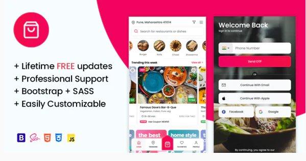 Online Food Ordering & Restaurant Website Mobile Template