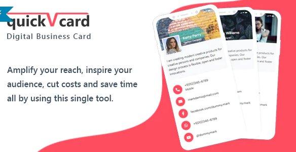 QuickVCard - Digital Business Card SaaS PHP Scriptv1.3 Nulled