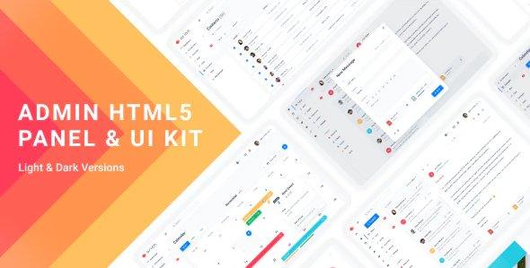 Admin Dashboard & UI Kit HTML5 Template