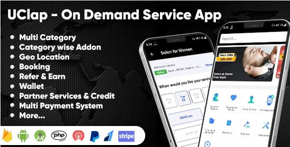 UClap - On Demand Home Service App   UrbanClap Clone   Android App with Interactive Admin Panel v1.0