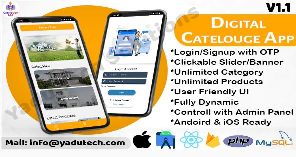 Multipurpose Digital Catalogue Android & iOS App with Website and Admin Panel V1.1 Nulled