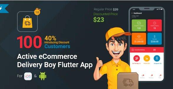 Active eCommerce Delivery Boy Flutter App v1.1 Free