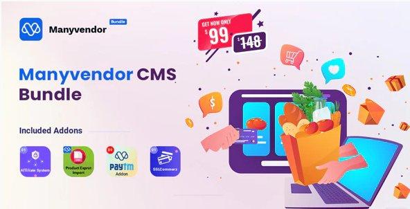 Manyvendor - eCommerce & Multi-vendor CMS Bundle v1.0