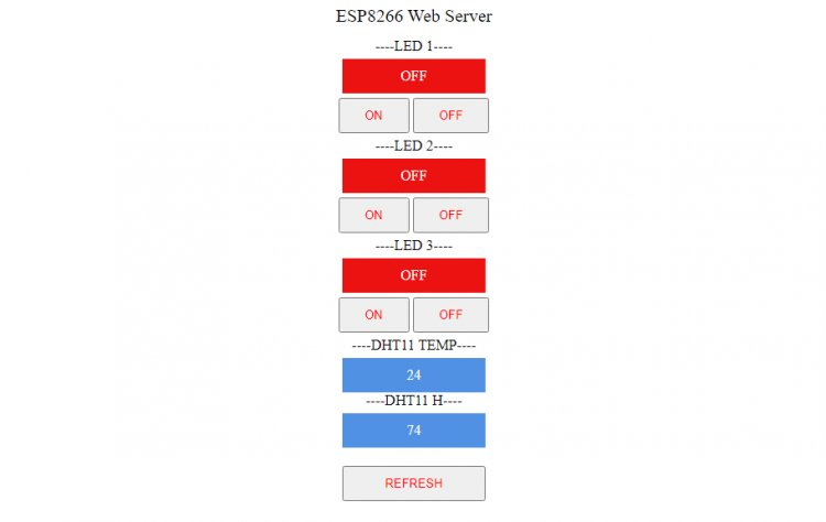 Smart home or wi-fi web server on esp8266 (Arduino)