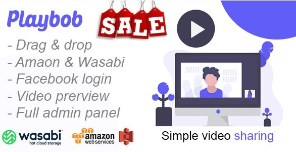 Playbob - Simple Video Sharing v1.0 Nulled