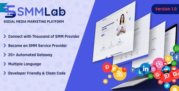 SMMLab - Social Media Marketing SMM Platform v1.0 Nulled