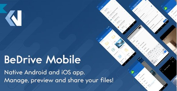 BeDrive Mobile - Native Flutter Android and iOS app for File Storage PHP Script v1.0.4