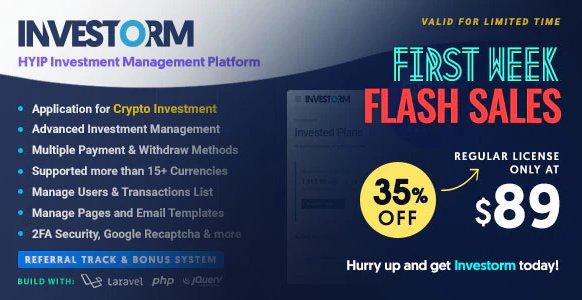 Investorm - Advanced HYIP Investment Management Platform v1.1.0 Nulled