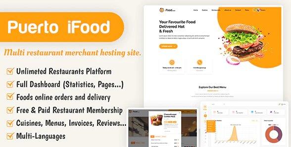 iFood - multi restaurant merchant hosting site SAAS v1.1 Nulled