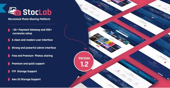 StocLab - Microstock Photo Sharing Platform v1.2 Nulled