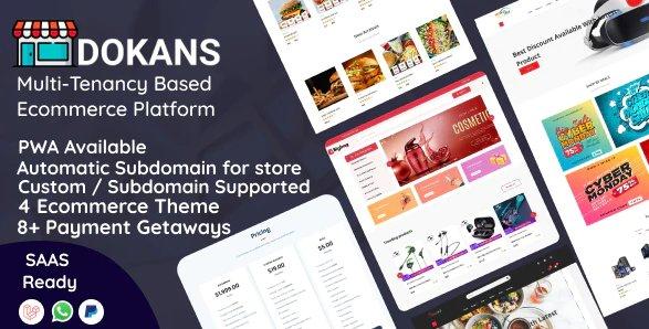 DOKANS - Multitenancy Based Ecommerce Platform (SAAS) v3.0 Nulled